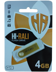 Флешка USB Hi-Rali Shuttle series 4gb (Gold)