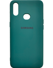 Чехол Silicone Case Samsung A10s (темно-зеленый)
