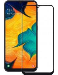 Стекло матовое Samsung A20 (9D Black) 0.39mm