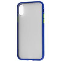 Чехол LikGus Maxshield матовый iPhone X/XS (темно-синий)