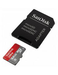 Карта памяти SanDisk Ultra microSD 64gb (10cl) + adapter