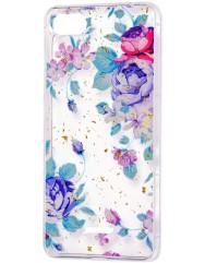 Силіконовий чохол Xiaomi Redmi 6a (салатові квіти)