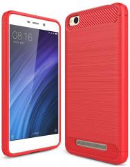 Силиконовый чехол Carbon Xiaomi Redmi 4a (красный)