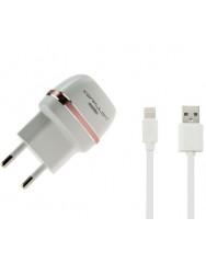 Мережевий зарядний пристрій Konfulon C31 + S05 (Iphone Cable)
