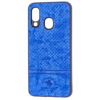 Чехол Velvet Samsung A40 (синий)