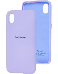 Чехол Silicone Case Samsung A01 Core (лавандовый)