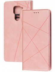 Книга Business Leather Xiaomi Redmi Note 9 (розовый)
