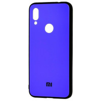 Чехол Glass Case Mi Xiaomi Redmi Note 7 (синий)