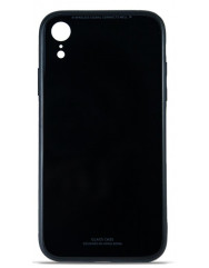 Чохол Glass Case iPhone XR (чорний)