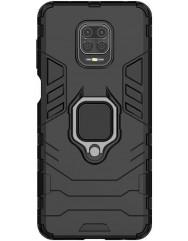 Чехол Armor + подставка Xiaomi Redmi Note 9 Pro/Note 9s (черный)