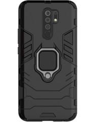 Чохол Armor + підставка Xiaomi Redmi 9 (чорний)