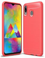 Чехол Carbon Samsung Galaxy M20 (червоний)