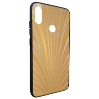 Чехол Glass Case Rainbow Xiaomi Redmi Note 7 (золотой)