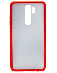 Чехол LikGus Maxshield матовый Xiaomi Redmi Note 8 Pro (красный)