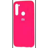 Чехол Silicone Case Xiaomi Redmi Note 8 (ярко-розовый)