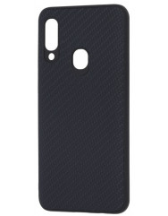 Чохол Premium Carbon Samsung Galaxy A20s (чорний)