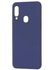 Чехол Premium Carbon Samsung Galaxy A20s (синий)