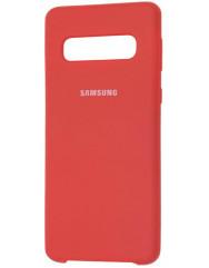 Чехол Silky Samsung Galaxy S10 (красный)