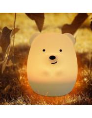 Силиконовая светодиодная лампа Colorful Silicone Bear
