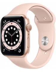 Apple Watch Series 6 40mm Gold Aluminum Case with Pink Sand Sport Band (MG123UL/A)