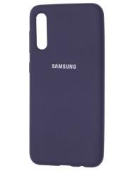Чохол Silicone Case Samsung Galaxy A70 (темно-синій)