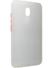 Чохол LikGus Maxshield матовий Xiaomi Redmi 8a (біло-червоний)