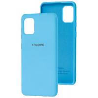 Чехол Silicone Case Samsung Galaxy A31 (голубой)