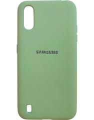 Чохол Silky Samsung Galaxy A01 (салатовий)