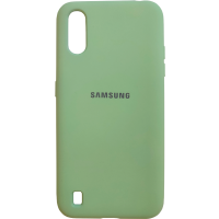 Чехол Silky Samsung Galaxy A01 (салатовый)