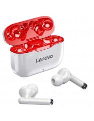 TWS навушники Lenovo LP1 (White/Red)