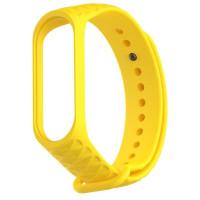 Ремешок для Xiaomi Band 3/4 Рельеф (желтый)