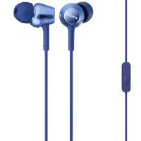 Вакуумные наушники-гарнитура Sony MDR-EX250AP (синий)