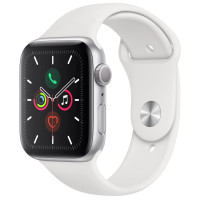 Apple Watch Series 5 40mm Silver Aluminum Case with White Sport Band (MWV62)