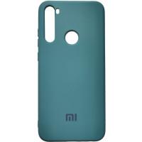 Чехол Silicone Case Xiaomi Redmi Note 8T (темно-зелёный)