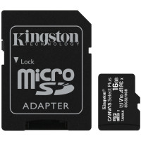 Карта памяти Kingston Canvas Select Plus micro SD 16gb (10cl) + SD Adapter
