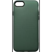 Чехол силиконовый матовый iPhone 7/8 (зелено-черный)