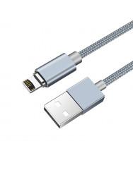 Магнітний кабель Hoco U40A Lightning (сірий)