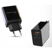 Сетевое зарядное устройство Konfulon C59 PD+QC 3.0 (Black)