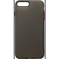 Чехол силиконовый матовый iPhone 7/8 Plus (черно-красный)