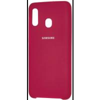 Чехол Silky Samsung Galaxy A40 (бордовый)