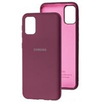 Чехол Silicone Case Samsung Galaxy A31 (бордовый)
