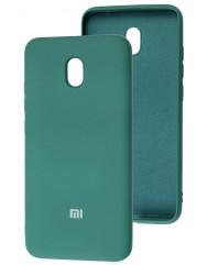 Чохол Silicone Case Xiaomi Redmi 8a (темно-зелений)
