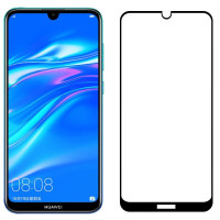 Стекло Huawei Y7 2019 / Y7 Pro 2019 5D black