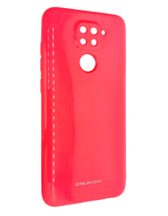 Чехол Molan Xiaomi Redmi Note 9 (ярко-розовый)