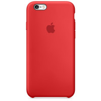 Чехол Silicone Case iPhone 6 Plus/6s Plus (красный)