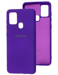 Чохол Silicone Case Samsung Galaxy A21s (фіолетовий)