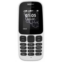 Nokia 105 Single Sim (White) TA-1010