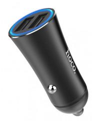 Автомобільний зарядний пристрій Hoco Z30 (3,1A) 2 USB (Black)