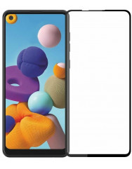 Скло Samsung Galaxy A21s (5D Black)