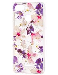 Силіконовий чохол Xiaomi Redmi 6 (фіолетові квіти)